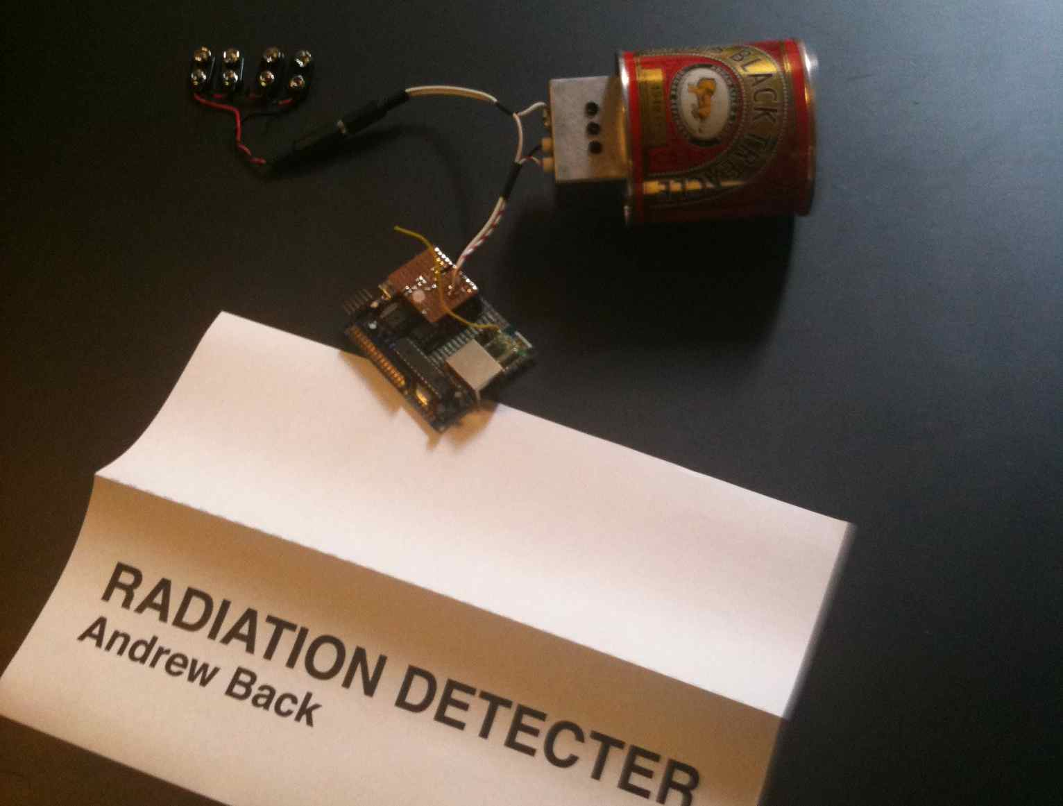 Andrew Backs radiation detector